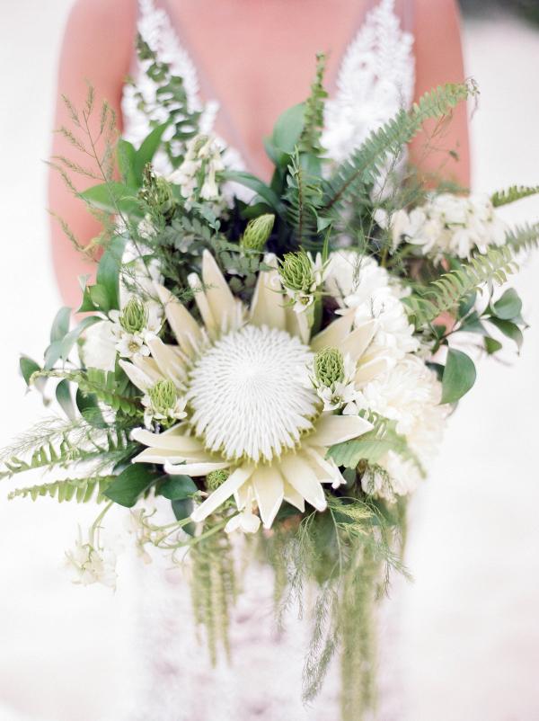White protea bouquet