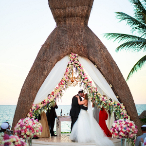 Beach side ceremony