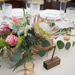 Wood box centerpieces