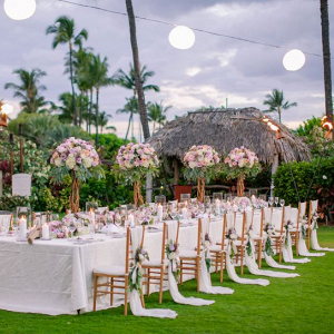 Romantic outdoor reception