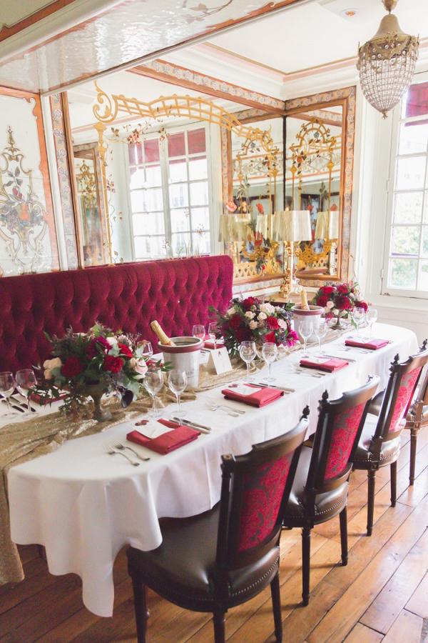 Paris restaurant wedding reception
