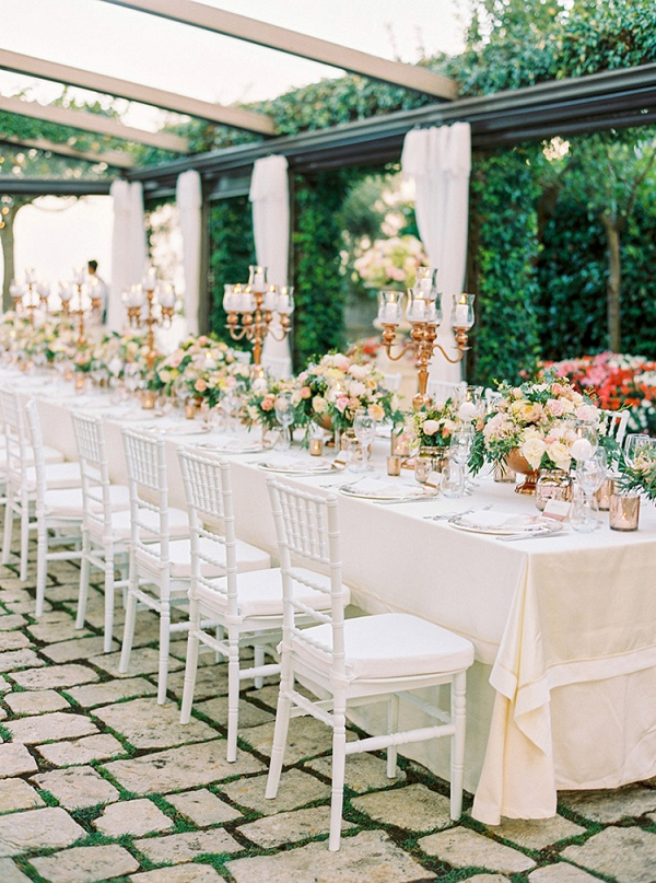 Elegant alfresco reception