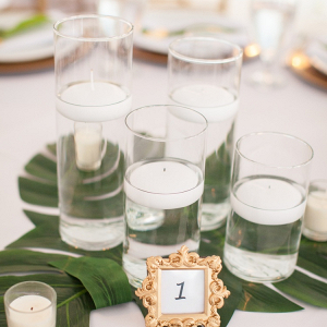 Tropical candle centerpiece