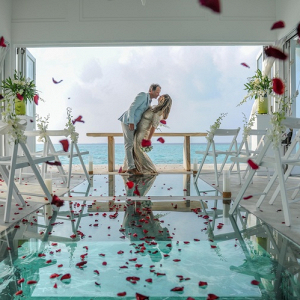Overwater chapel ceremony