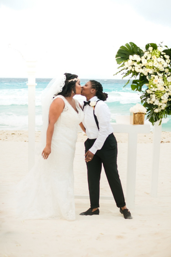 Same sex Cancun wedding