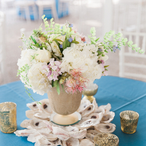 Oyster wedding centerpiece