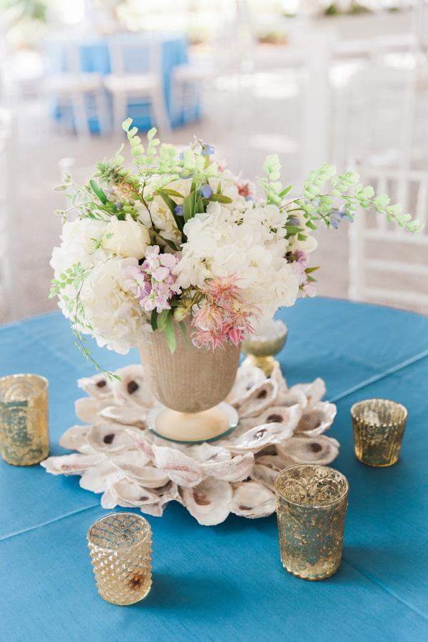 Oyster wedding centerpiece