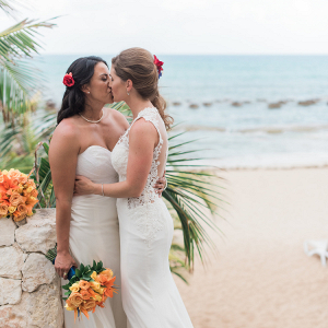 Brides on the beach