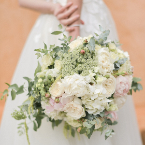 Cream floral bridal bouquet