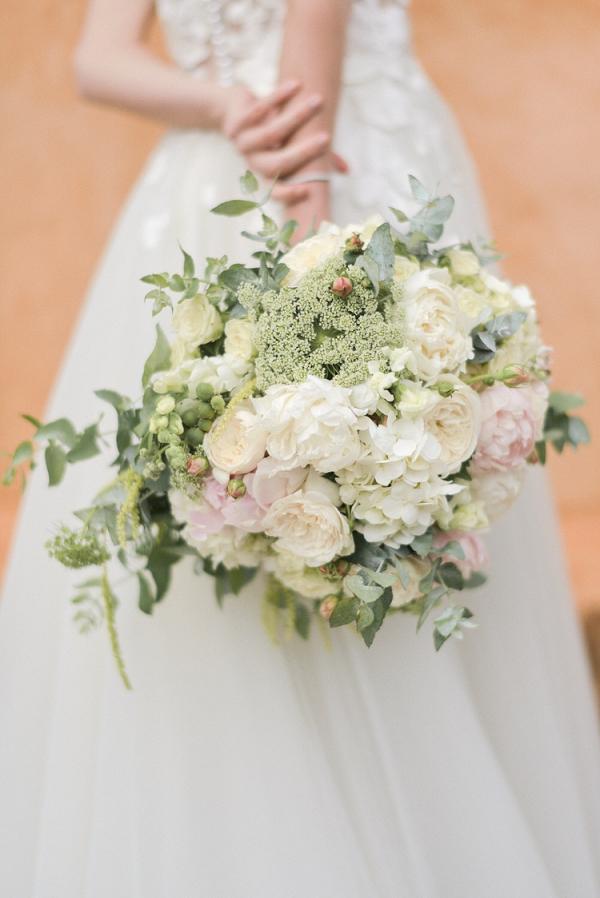 Cream floral bridal bouquet