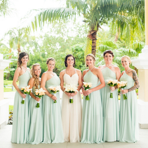 Mint green bridesmaids