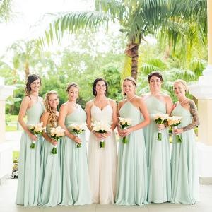 Mint green bridesmaids