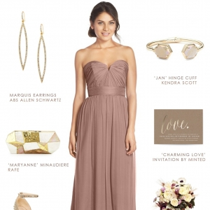 Beige Bridesmaid Dress Collage by Dress for the Wedding