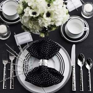 Ideas for a black and whitekate spade new york bridal shower