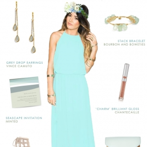 Limpet Shell Bridesmaid Outfit Idea