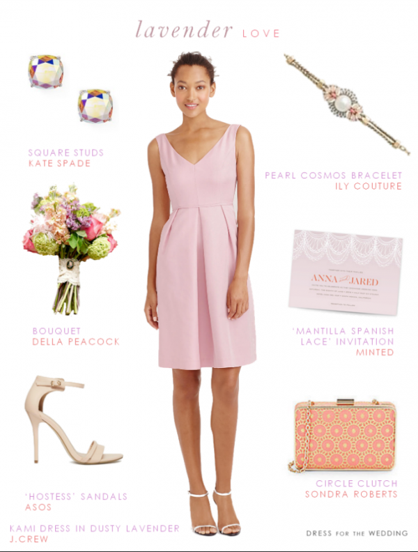 Bridesmaid Style in Lavender and Coral