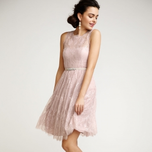 Blush Lace Bridesmaid Dress | Celia Dress from BHLDN