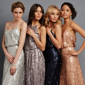Donna Morgan Serenity Collection Sequin Bridesmaid Dresses