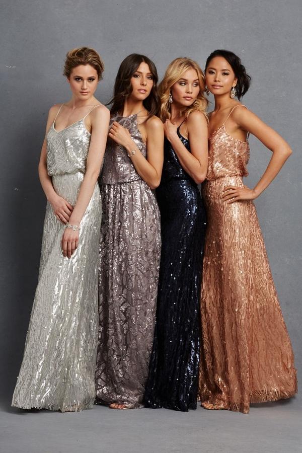 Donna Morgan Serenity Collection Sequin Bridesmaid Dresses