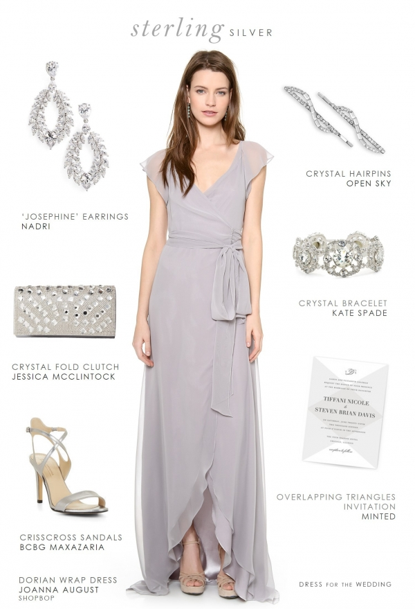 Gray dress for Bridesmaids by Dress for the Wedding