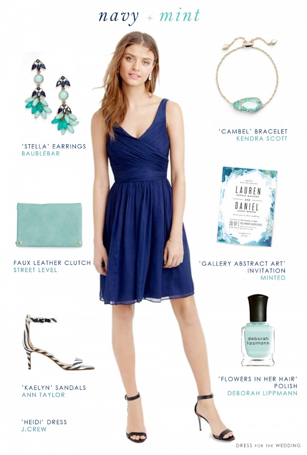 Navy Blue and Mint Green Wedding Style