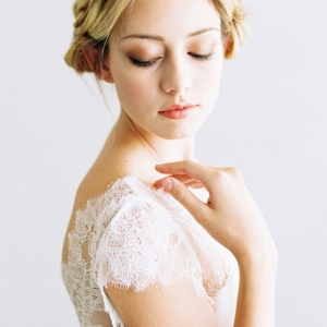 Ella a cap sleeve wedding dress by Saint Isabel