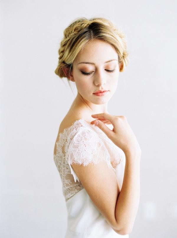 Ella a cap sleeve wedding dress by Saint Isabel