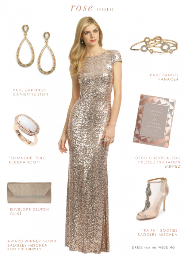 Rose Gold Sequin Style Idea - Aisle Society
