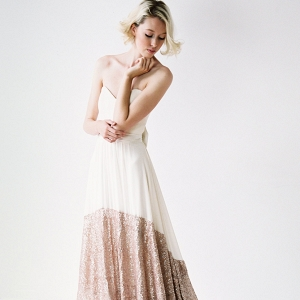 Sequin hem wedding dress Truvelle