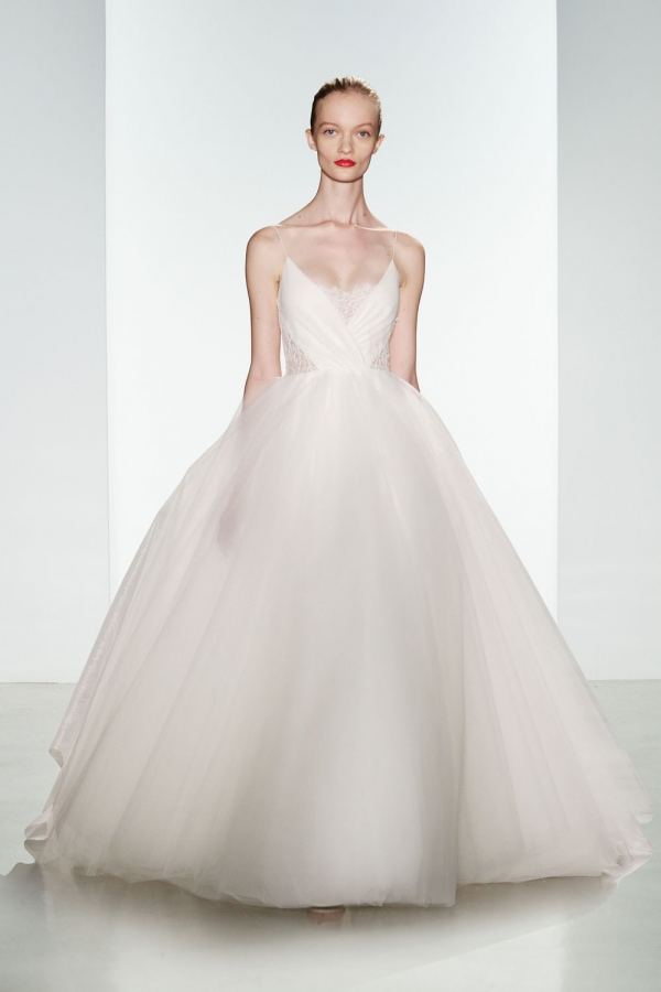 Tulle Ballgown with Lace and Silk by Christos - Penny