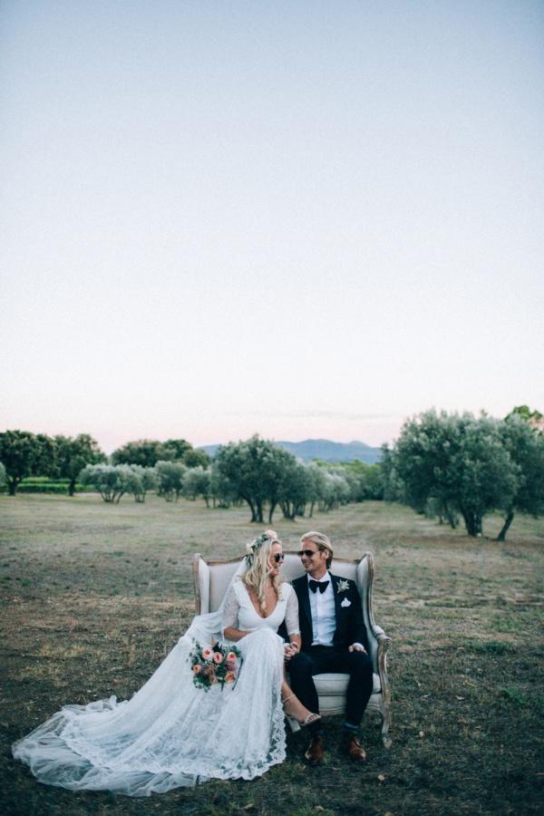 French Rivera wedding portrait