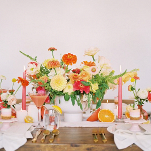Bright pink, peach, coral & orange wedding inspiration