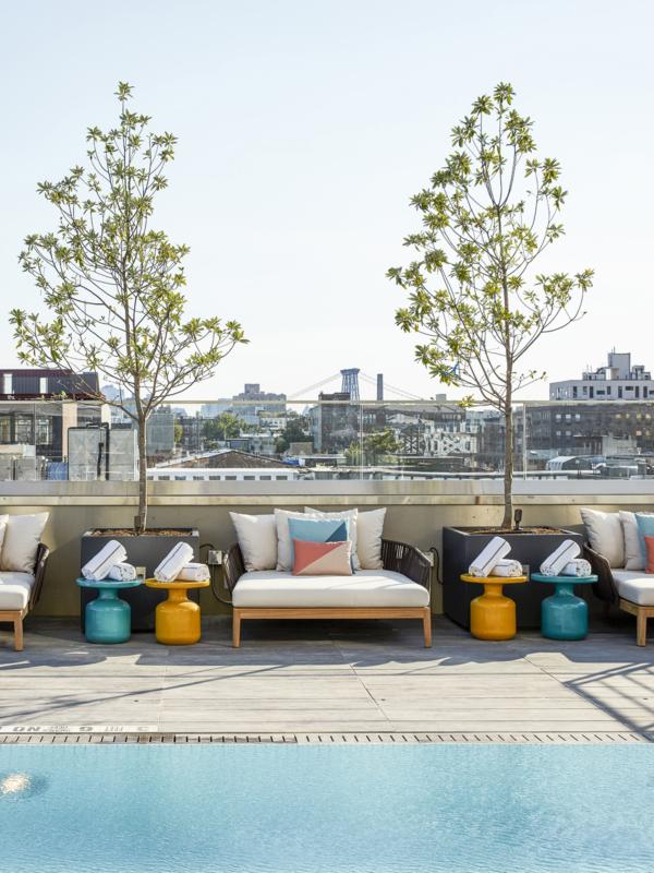 Modern rooftop pool