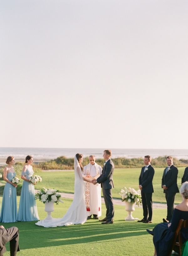 Seaside resort ceremony