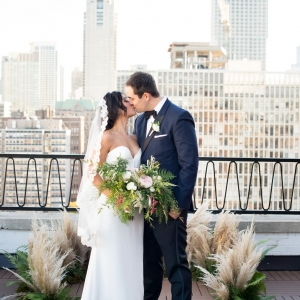 Public Chicago Rooftop Wedding