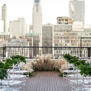 Public Chicago Rooftop Wedding Ceremony