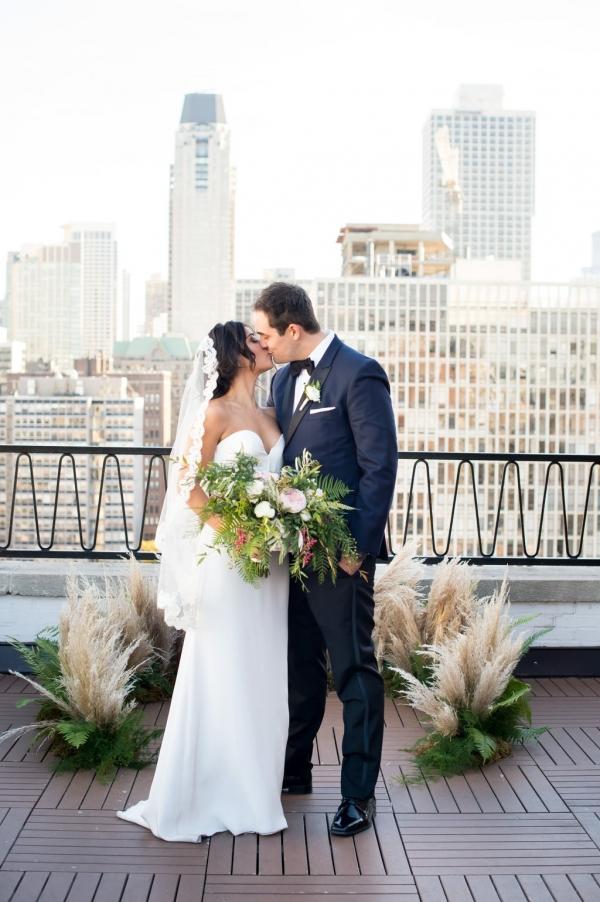 Public Chicago Rooftop Wedding