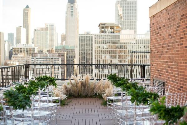 Public Chicago Rooftop Wedding Ceremony