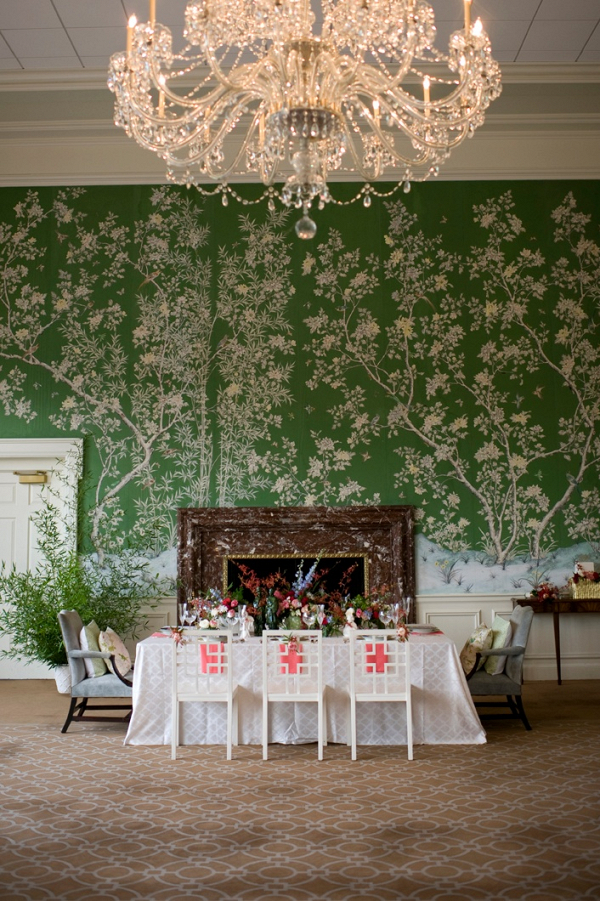 Chinoiserie inspired wedding
