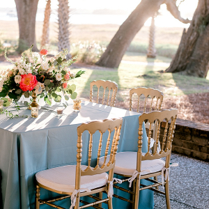 Pink and blue reception