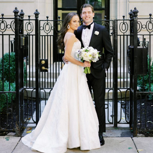 Elegant Chicago wedding portrait
