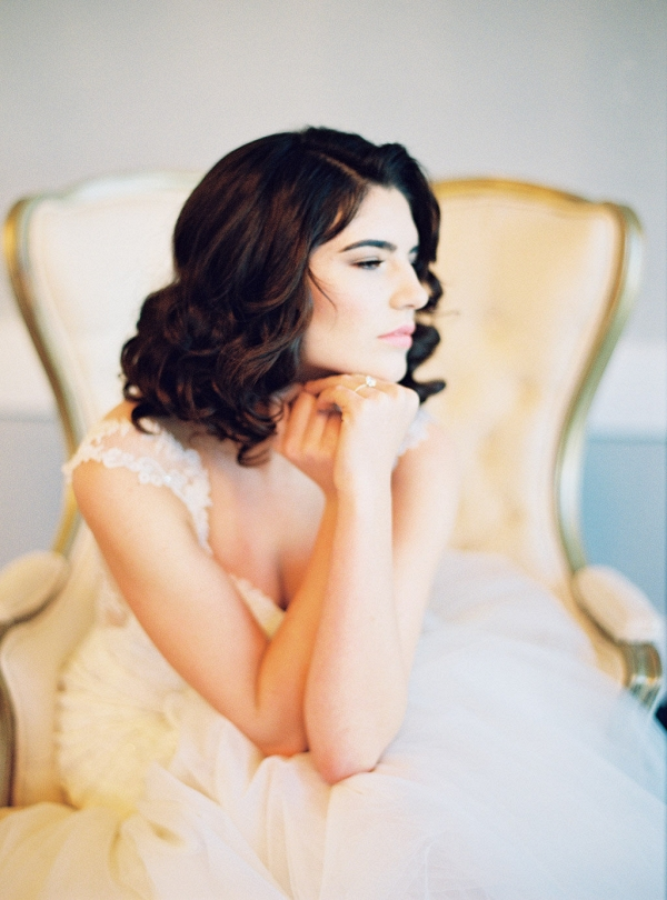 Bride with Retro Curls