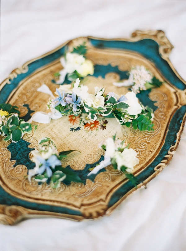 Pastel Blue and Ivory Boutonnieres