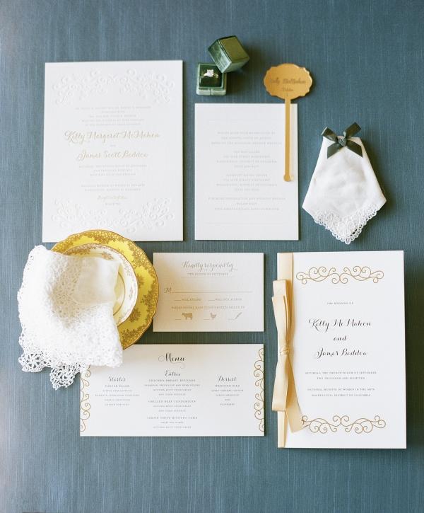 Classic white wedding invitations