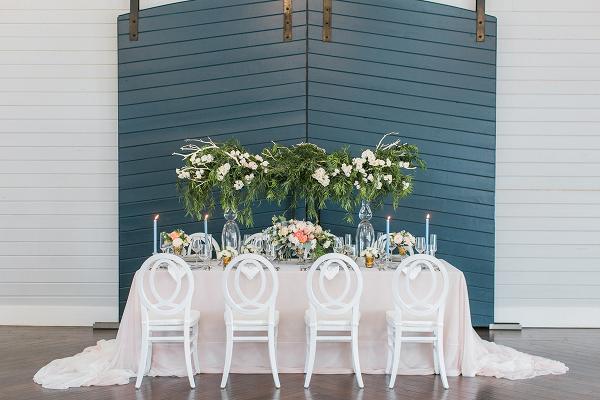 Elegant farm table