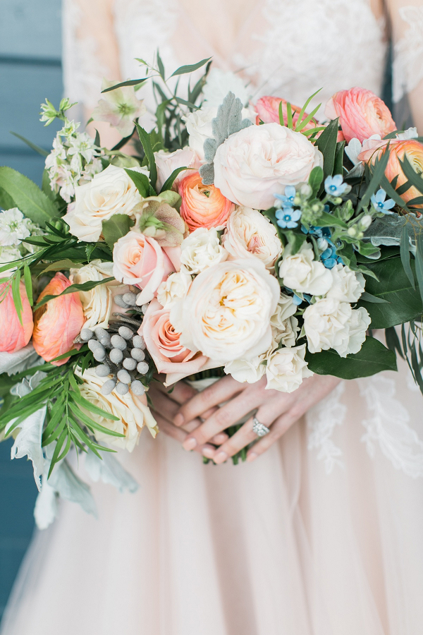 Blush and coral bouquet