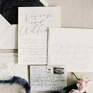 Dark Gray Wedding Stationery