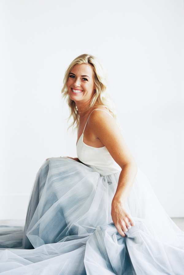 Chantel Lauren Designs Blue Tulle Skirt