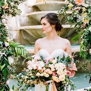 Bride in Sarah Seven