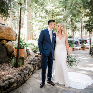California wedding portrait
